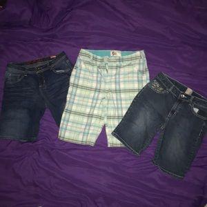 Other - 3 PAIRS! Girls Size 16 shorts lot. EUC!